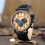 BOBO BIRD Relogio Masculino Watch Men Metal and Wooden Case Auto Date Male Sport Wristwatch Accept Logo Customize B-P09