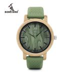 BOBO BIRD Relogio Masculino Watches Women Brand Bamboo Men Watch Silicone Band Quartz Wristwatches relogio feminino W-B06