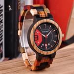 BOBO BIRD Relogio Masculino Wooden Watch Men Luxury Date Display Wood Japanese Quartz Watches Men's Great Gift erkek kol saati