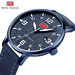 Brand Luxury Men Sports Watches Men's Quartz Slim Date Clock Male Ultra-thin Dial Genuine Leather Strap Watch Men MINI FOCUS