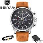BENYAR Men Watch Top Brand Luxury Military Quartz Watches Chronograph Waterproof Wrist watches Male Clock Relogio Masculino