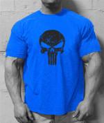 100% cotton casual men t shirts fashion short sleeve fitness men's tee shirts tops men gyms T-shirt