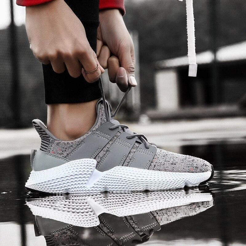 BomKinta Fly Weaving Men Casual Shoes Spring Summer Shoes Men High Quality Breathable Male Footwear Damping Tenis Sneakers Men