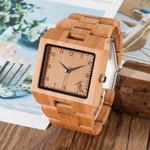 BOBO BIRD V-L22 Wood Watches Men High Quality Bamboo Watch Men Luxury Square Quartz Analog Clock