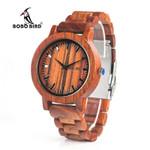 BOBO BIRD V-M10 New Arrival Mens Watch Ebony Wood Dial All Wood Quartz Wristwatch in Gift Box reloj hombre