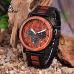 BOBO BIRD V-P09-3 Luxury Unique Wood Dial Watches Men Clock Functional Stop Watch saat with Date Display