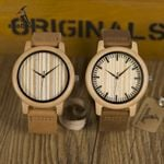BOBO BIRD WA20A21 Casual Wooden Watch Men Bamboo Quartz Watches With Leather Straps relojes mujer marca de lujo With Gift Box