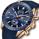 BENYAR Mens Watches Top Brand Luxury Sport Quartz Chronograph Watch Men Silicone Strap Waterproof Male Clock Relogio Masculino