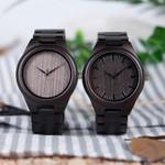 BOBO BIRD Watch Men Relogio Masculino Ebony Wooden Wood WristWatch Causal Quartz reloj hombre in Gift Box Custom logo