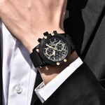 BENYAR Mens Watches Top Luxury Sport Chronograph Fashion Men Waterproof Luxury Brand Gold Quartz Watch saat reloj hombre