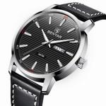BENYAR Reloje Men Watch Male Leather Automatic week date Quartz Watches Mens Luxury Brand Waterproof Sport Clock Relogio