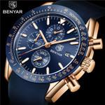 BENYAR Watch Men Top Brand Luxury Chronograph Wristwatch Fashion Blue Waterproof Military Sport Male Clock Relogio Masculino