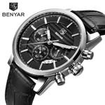 BENYAR Watch Men Top Luxury Brand Quartz Sport Watches Mens Fashion Analog Leather Male Waterproof Wristwatch reloj hombre