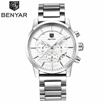 BENYAR Waterproof Men's Watches Top Brand Luxury Men Watch Quartz-watch Wrist Watches Chronograph Clock Relogio Masculino