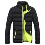 Brand Men Parka Cotton Padded Winter Jacket Coat mens warm jacket Solid color Stand Collar Zipper Thick Coat Men Down Parka 1921