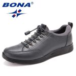 BONA New Classics Style Men Casual Shoes Lace Up Men Loafers Microfiber Men Shoes Comfortable Light Breathable Free Shipping