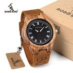 BOBO BIRD WO30 Classic Zebra Wooden Watch Quartz Watches With Brand Design Leather Straps relojes mujer marca de lujo
