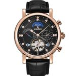 BINSSAW Mechanical Watch Men Sport Tourbillon Automatic Top Luxury Brand Relojes Hombre Leather Moon Phase Watches relogio