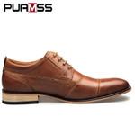 Brand Men Shoes Top Quality Oxfords British Style Men Genuine Leather Dress Shoes Business Formal Shoes Men Flats Plus Size 50
