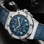 BAOGELA Men's New Quartz Watches Waterproof Chronograph Casual Luminous Wrist Watch Man Leather Strap Relogios 1805 Blue
