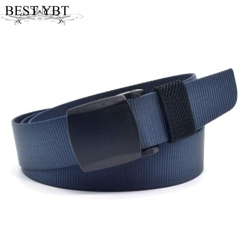 Best YBT Childred canvas belt Boys smooth bucks teenagers anti allergy students leisure outdoor sport military training belt
