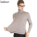 Autumn Winter Youth Turtleneck Sweater Men Knitted Sweater High Elastic Mens Sweaters And Pullovers