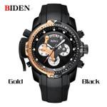 BIDEN Men Watches Top Brand Luxury Sports Military Quartz Watch Waterproof Date Chronograph Wrist watches Man Relogio Masculino