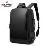 BOPAI Size Expanded Backpack Men's Laptop Backpack 15.6 Inch Water Repellent Men Backpack School Bag USB Charge Back Pack