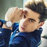 Blue Leather Band Designer Quartz Watches Men Urban Students Casual Fashion Brand Wrist watch Clock male Simple