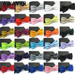 AWAYTR Ties for Men Fashion Tuxedo Classic Mixed Solid Color Butterfly Wedding Party Bowtie Bow Tie Men's Accessories
