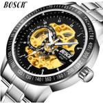 BOSCK Business Relogio Masculino Fashion Casual Men Watches Luxury Brand Stainless Steel Quartz Wrist Watch Sports Digital