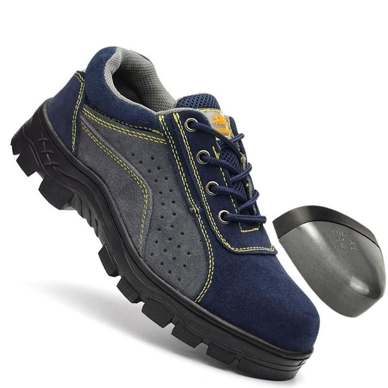 Breathable Work Boot Steel Toe mid-plate Anti-slip Anti-smashing Wilderness Survival Men Safety Shoes #WL868