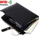 Baborry Leather Rfid Wallet Short Slim Male Luxury Business Purses Money Clip Credit Card Dollar Price Portomonee Carteria