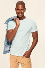 Blue Men's T Shirt Presser   Cotton Neck Short Sleeve TMNSS19BO0001
