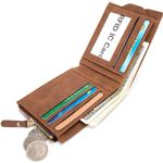 Baborry RFID Protection Wallet Men Soft Leather Wallet With Removable Card Slots Multi-Function Men Wallet Purse Male Clutch