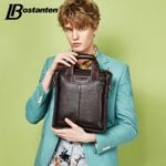 Bostanten Hot Sale Genuine Leather Business Briefcase Portable Laptop Handbag Casual Purse Sacoche Homme Marque Crossbody