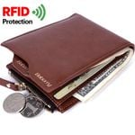 Baborry RFID Wallets for Men Fashion Solid Coin Purse Card Holder Slim Wallet Soft PU New Design Short Wallet Geldbeutel Herren