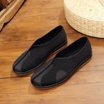Black Canvas Shoes Men Ultra Light Men Casual Shoes Chinese Kongfu Loafers Men Breathable Fashion Men Shoes Footwear