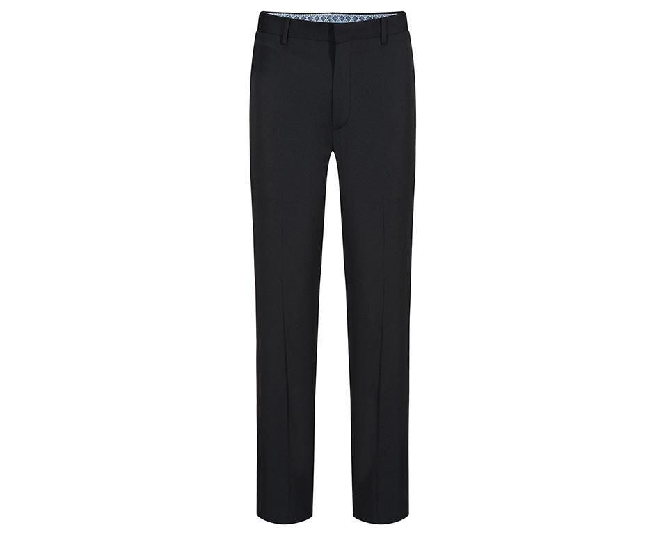 Broadcloth Casual Elastic Suit Pants