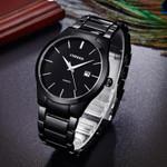 black Curren Top Brand Business Men Male Luxury Watch Casual Full steel Calendar Wristwatches quartz watches relogio masculino