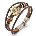 Bracelets Fashion Jewelry Leather Bracelets Men Casual Personality Vintage Punk Bangle Gift