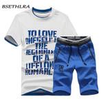 BSETHLRA Brand New Men T Shirt Sets Summer Hot Sale Cotton Comfortable Short Sleeve Tshirt Homme Casual Set Male Size D03