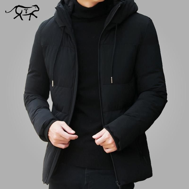 Brand Winter Jacket Men Clothes Casual Stand Collar Hooded Collar Fashion Winter Coat Men Parka Outerwear Warm Slim fit 4XL