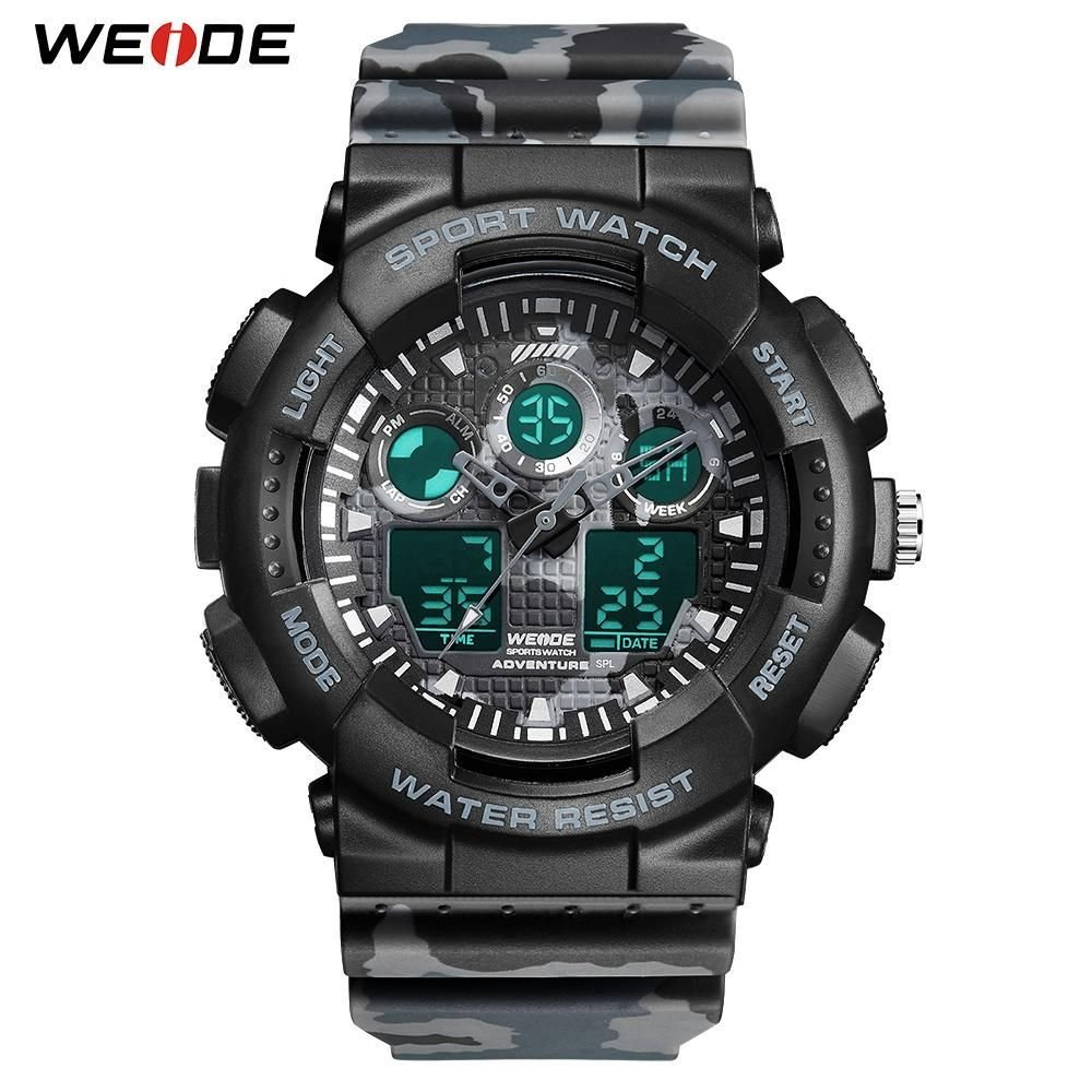 WEIDE Military Men Watches Sport Digital 50M Waterproof Wristwatch Male Clock Hour Outdoor Relogios Masculino Relojes New 2019