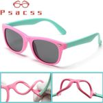 Psacss Square Polarized Kids Sunglasses Boys Girls Vintage Silica Frame Sun Glasses Child's Radiation Protection Eyewear UV400