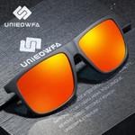 UNIEOWFA Male Luxury Brand Sunglasses Men Polarized Driving UV400 Sun Glasses For Men Polaroid Matte Black Square Eyewear 2019