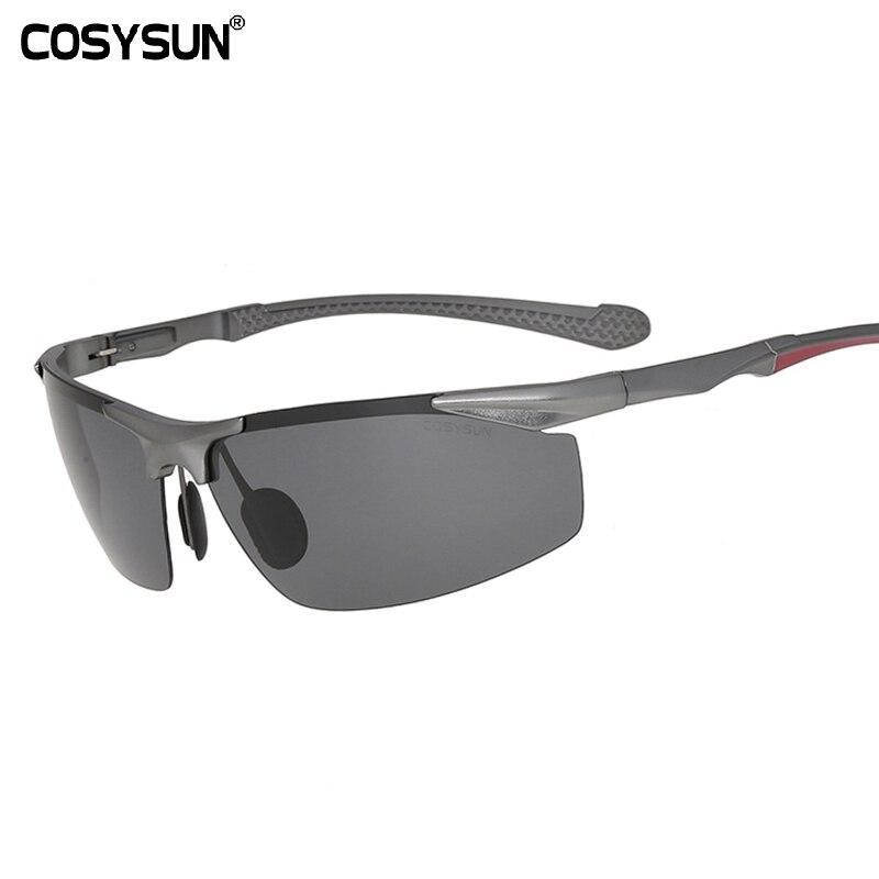 2019 Men Polarized Rimless Aluminum Sunglasses Man Driving glasses HD Polarized Sunglasses Male Goggle Sports Oculos de sol 8585