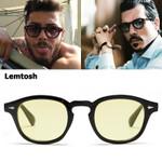 JackJad Fashion Johnny Depp Lemtosh Style Tint Ocean Lens Sunglasses Vintage Classic Round Brand Design Sun Glasses Oculos Sol