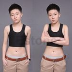 Lesbian Tomboy Casual Breathable Buckle Short Chest Breast Binder Trans 5 Sizes