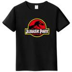 Summer men's T-shirt new JURASSIC PARK printed cotton T-shirt top casual brand pattern T-shirt hipster shirt